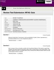 Review Test Submission: M7A2: Quiz – COMM320: ...
