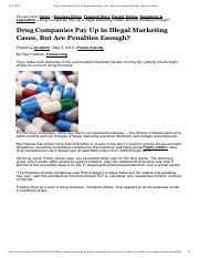 Drug Companies Pay Up in Illegal Marketing Cases, But Are Penalties Enough_ _ Business Ethics
