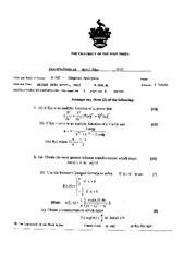Complex Analysis May 2002 Final Exam