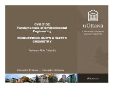 Lecture 2.1  - Engineering Units & Water Chemistry