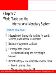 Ed6s 02 World Trade and the International Monetary System