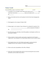 10. Development of the Church in Ohio Study Guide