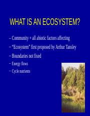 Notes BIO 340 Ecosystems.ppt