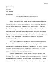 Jenny Ramsey English Paper
