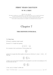 Chap 7 Definite Integral