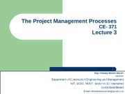 Project Mgt. Processes (Lec-3)
