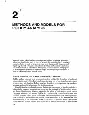 Methods and Models for Policy Analysis.pdf
