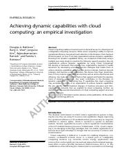 Achieving Dynamic Capabilities with Cloud Computing_EJIS 201512_AOP