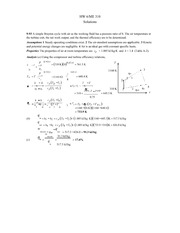 Homework 6 Solution on Thermodynamic System Engineering
