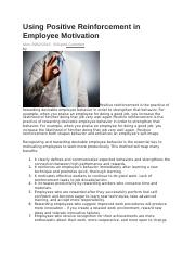 Using Positive Reinforcement in Employee Motivation.docx