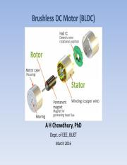 BLDC pdf - 48550 Electrical Energy Technology Chapter 14 Brushless