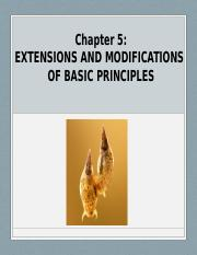 Student Chapter 5 Extensions and Modifications