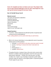 bio 181 notes Here is the best resource for homework help with bio 181/182 : general biology  at arizona state university find bio181/182 study guides, notes, and practice.