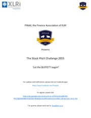 Rule Book - Stock Pitch Challenge 2015