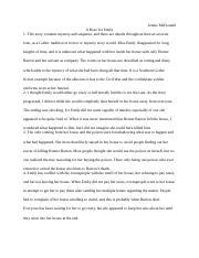 a literary analysis of william faulkners a rose for emily A rose for emily is a favorite american short story by william faulkner here is a summary of the story and a few questions for study and discussion.