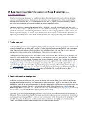 Spanish 11 FA Reading 15 Language Learning Resources.pdf