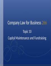 Topic 10 - Capital Maintenance and Fundraising(2).ppt