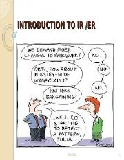 Topic 1 - Introduction to Industrial Relations
