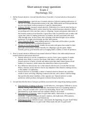 PSYX 352 Exam 2 sample essay questions.docx