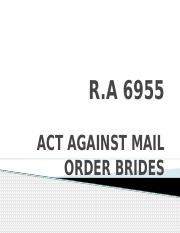 Act Against Mail Order Brides