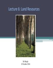 6 Land Resources