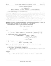 Homework 2 Solution on Financial Mathematics for Actuaries Spring 2015