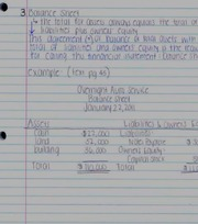 Chapter 2 notes- balance sheet and statement of cash flows
