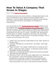 How To Value A Company That Grows In Stages.docx
