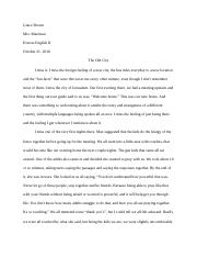 Honors English Memoir Essay