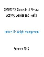GENM0703 Summer 2017 L11 Wt Mgmt