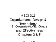 3. Organizational Goals and Effectiveness 1 of 2