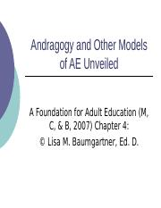 Week 3 PPT - Chapter 4 Andragogy_Unveiled.ppt