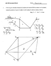 ME 252 Homework  Solutions #1