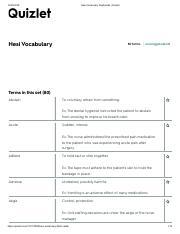 Hesi Vocabulary Flashcards _ Quizlet pdf - Hesi Vocabulary