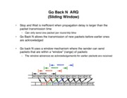 ARQ Protocols: Go Back N and SRP notes