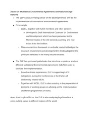 Multilateral Environmental Agreements notes