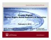 LECTURE 6 - Human Rights-Based Approach to Education