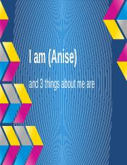 I am (10 adj) - Anise Foster
