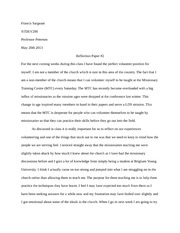 Reflection on service learning essay
