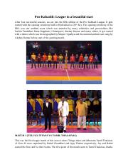 Pro-Kabaddi League to a beautiful start.docx