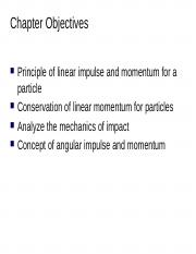 Lecture 8 Impulse and Momentum