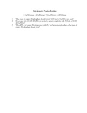 Stoichiometry Practice Problem v2