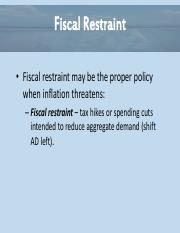 Essential of Economics Chapter 12 - Fiscal Restraint Power Point