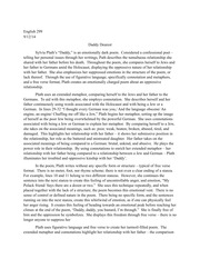 Sylvia Plath Daddy Analysis  Daddy I Have Had To Kill You In   Pages Analysis Of Sylvia Plaths Daddy Dearest English Essay Outline Format also Health And Fitness Essay  Writers For Assignment Required