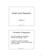 simple linear regression noteshells