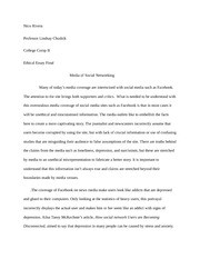 ethical essay FINAL:Media of Social Networking