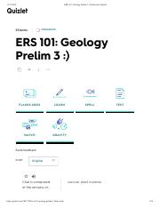 ERS 101- Geology Prelim 3 -) Flashcards | Quizlet