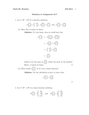 MATH 60 Fall 2014 Assignment 17 Solutions