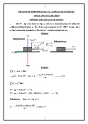 SOLUTION OF ASSIGNMENT NO. ( 5 )