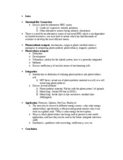 sustainability paper outline